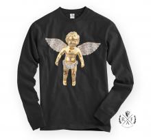 "RafaelloKings© ""GOLD ANGEL"" Full Graphic Long Sleeve Shirt"