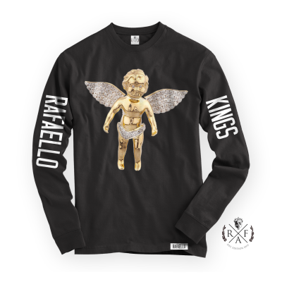 "RafaelloKings© ""GOLD ANGEL"" Full Graphic RF Long Sleeve Shirt"