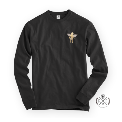 "RafaelloKings© ""GOLD ANGEL"" Graphic Long Sleeve Shirt"