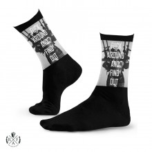 "RafaelloKings© ""FA&FO"" Graphic High Socks"