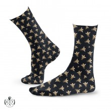 "RafaelloKings© ""GOLD ANGEL PATTERN"" Graphic High Socks"