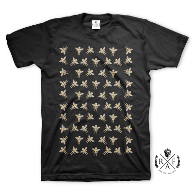 "RafaelloKings© ""RAFAELLO GOLD ANGELS PATTERN"" Graphic T-Shirt"