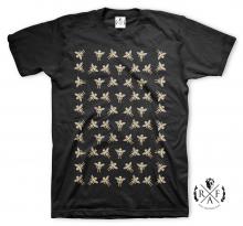 "RafaelloKings© ""RAFAELLO GOLD ANGELS PATTERN"" Graphic T-Shirt"