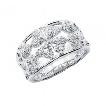 Diamond Ring White Gold S.C 0.34ct Micro Pave'