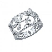 Diamond Ring White & Rose Gold S.C 0.26ct Micro Pave'