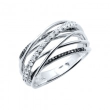 Diamond Ring White & Rose Gold D 0.32ct & BD 0.08ct Prong & Micro Pave'