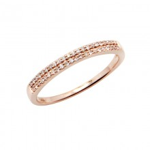 Diamond Ring Rose Gold SCD 0.12ct Micro Pave'