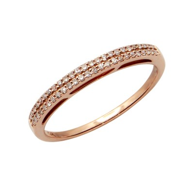 Diamond Ring Rose Gold SCD 0.14ct Micro Pave'