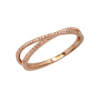 Diamond Ring Rose Gold SCD 0.13ct Micro Pave'