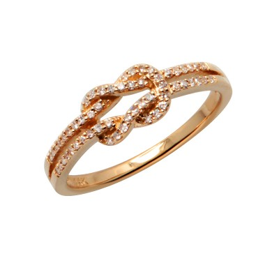 Diamond Ring Rose Gold SCD 0.15ct Micro Pave'
