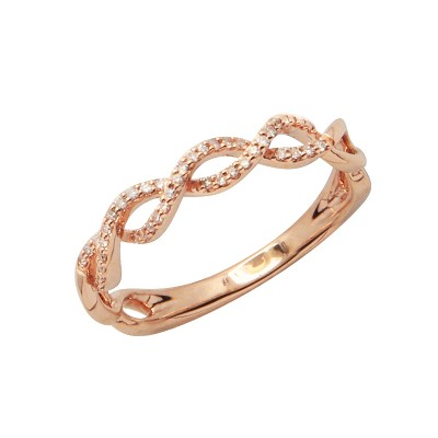 Diamond Ring Rose Gold SCD 0.12ct Micro Pave'