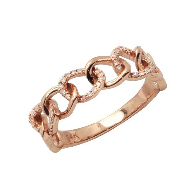 Diamond Ring Rose Gold SCD 0.11ct Micro Pave'