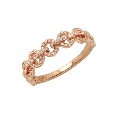 Diamond Ring Rose Gold SCD 0.19ct Micro Pave'