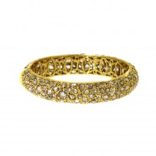 Yellow Gold Single Bangle Bracelet