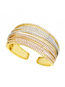 White Diamond Bangle Bracelet
