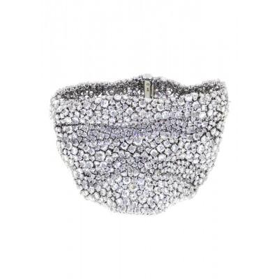 White Diamond Mesh Bracelet