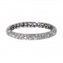 White Single Bangle Bracelet