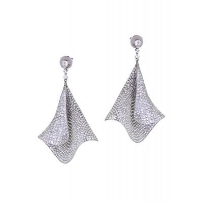 White Diamond Drape Earrings