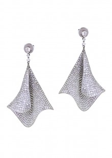 White Diamond Drape Earrings