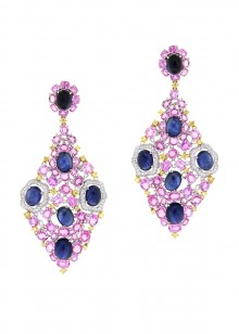 Multi-Colored Diamond Earrings