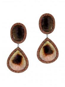 Brown, Multi-colored Earrings