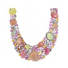 Multi-Colored Diamond & Gem Necklace