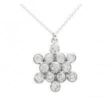 Diamond Charm White 14K Gold D 0.13 ct 52 Stones Prong' 2.06g