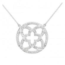 Diamond Charm White 14K Gold Micro Pave'