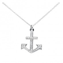 Diamond Anchor Charm White, Yellow & Rose 14K Gold D 0.09ct 34 Stones Micro Pave' 1.31g