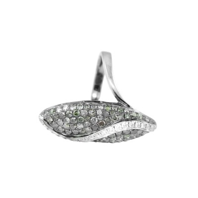 Diamond Cocktail Ring White Gold 3.15CT Micro Pave'