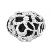 Diamond Cocktail Ring White Gold 2.94CT Micro Pave' 18.47 Gr