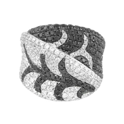 Diamond Cocktail Ring White Gold 4.25CT Micro Pave'