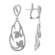 Diamond Earrings White & Rose Gold S.C 0.59ct Micro Pave'