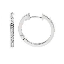 Diamond Hoop Earrings White Gold S.C 0.09ct Micro Pave'