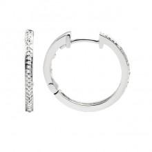 Diamond Hoop Earrings White Gold S.C 0.09ct Micro Pave'