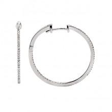 Diamond Hoop Earrings White Gold S.C 0.22ct Micro Pave'
