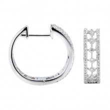 Diamond Hoop Earrings White Gold D 0.22ct SCD 0.26ct Micro Pave'