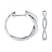 Diamond Hoop Earrings White, Rose & Yellow Gold SCD 0.27ct Micro Pave'