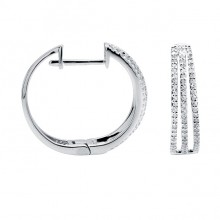 Diamond Hoop Earrings White, Rose & Yellow Gold SCD 0.40ct Micro Pave'