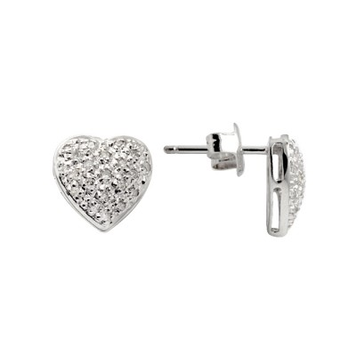 Diamond Stud Earrings White Gold S.C 0.19ct Micro Pave'