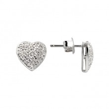 Diamond Stud Earrings White Gold S.C 0.19ct Micro Pave'