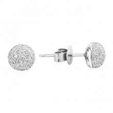 Diamond Stud Earrings White 14K Gold D 0.26ct 108 Stones Micro Pave' 1.35g