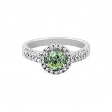 Diamond Engagement Ring White Gold DI .8 CT & CDI .9CT Pave' & Prong 4.0 Gr