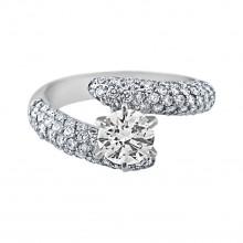 Diamond Engagement Ring White Gold CDI .85CT & SDI .92CT Micro Pave' & Prong