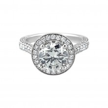 Diamond Engagement Ring White Gold DI 1.3CT & CDI 2.03CT Prong