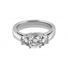Diamond Engagement Ring White Gold DI. C 2.2 CT & DI S. .25 CT Micro Pave' & Prong
