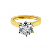 Diamond Engagement Ring Yellow Gold 2.02CT Prong 5.5 Gr