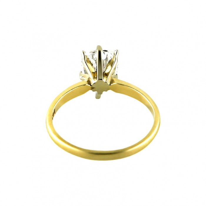 Diamond Engagement Ring Yellow Gold 1.50 CT Prong 2.40 Gr