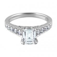 Diamond Engagement Ring White Gold DI. .6 CT CDI 1.10 CT Prong