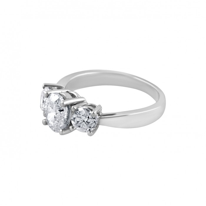 Diamond Engagement Ring White Gold DI C 1 00 CT & DI S 0 51 CT Micro P